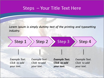 Snowboarder jumping PowerPoint Templates - Slide 4