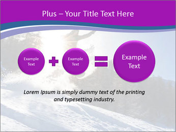 Snowboarder jumping PowerPoint Templates - Slide 75
