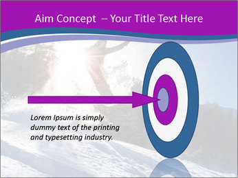 Snowboarder jumping PowerPoint Templates - Slide 83