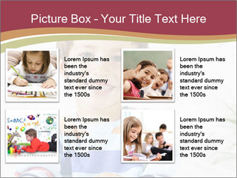 Little boy with a books PowerPoint Templates - Slide 14