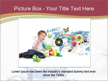 Little boy with a books PowerPoint Templates - Slide 15