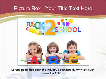 Little boy with a books PowerPoint Templates - Slide 16