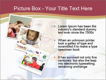 Little boy with a books PowerPoint Templates - Slide 17