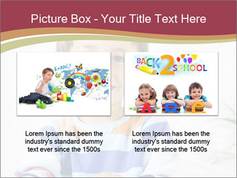 Little boy with a books PowerPoint Templates - Slide 18