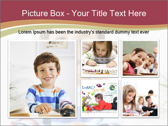 Little boy with a books PowerPoint Templates - Slide 19