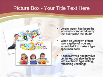 Little boy with a books PowerPoint Templates - Slide 20