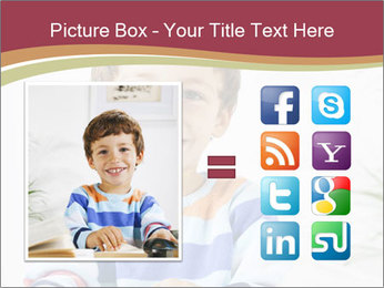 Little boy with a books PowerPoint Templates - Slide 21
