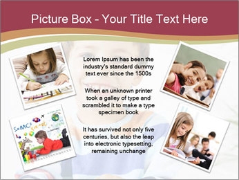 Little boy with a books PowerPoint Templates - Slide 24