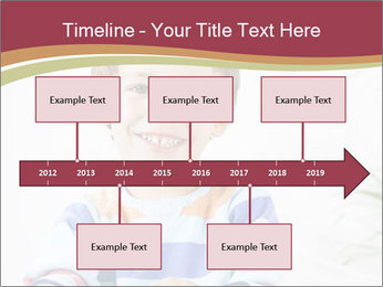 Little boy with a books PowerPoint Templates - Slide 28