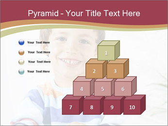 Little boy with a books PowerPoint Templates - Slide 31