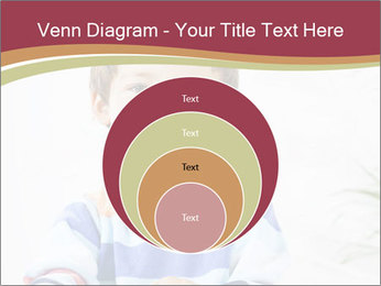 Little boy with a books PowerPoint Templates - Slide 34