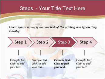 Little boy with a books PowerPoint Templates - Slide 4