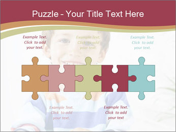 Little boy with a books PowerPoint Templates - Slide 41