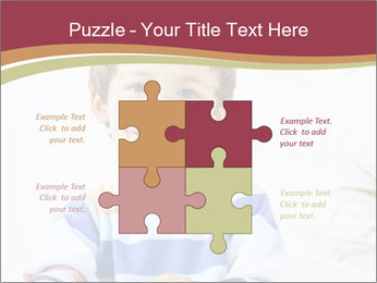 Little boy with a books PowerPoint Templates - Slide 43
