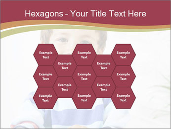 Little boy with a books PowerPoint Templates - Slide 44