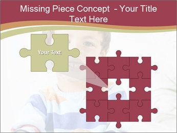 Little boy with a books PowerPoint Templates - Slide 45