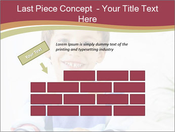 Little boy with a books PowerPoint Templates - Slide 46