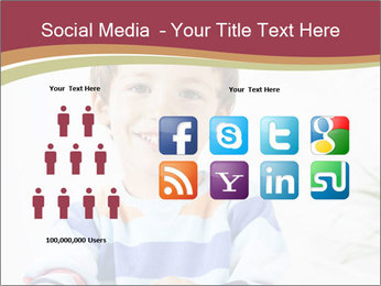 Little boy with a books PowerPoint Templates - Slide 5