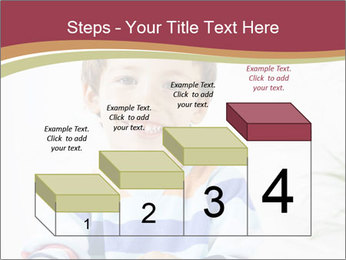 Little boy with a books PowerPoint Templates - Slide 64