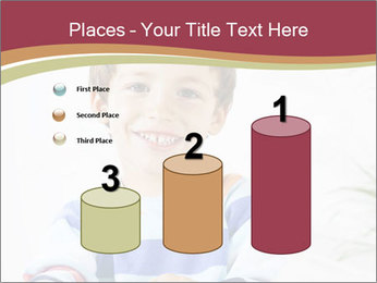 Little boy with a books PowerPoint Templates - Slide 65
