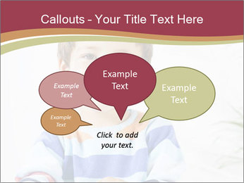 Little boy with a books PowerPoint Templates - Slide 73