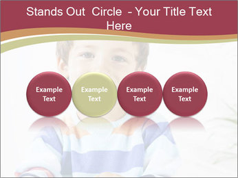 Little boy with a books PowerPoint Templates - Slide 76