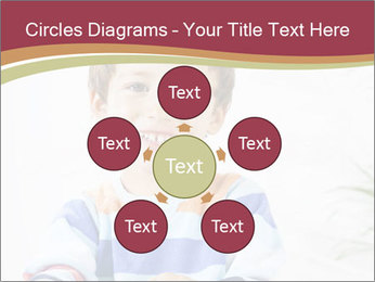 Little boy with a books PowerPoint Templates - Slide 78