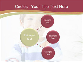 Little boy with a books PowerPoint Templates - Slide 79