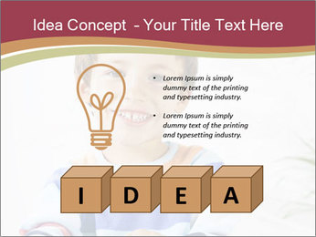Little boy with a books PowerPoint Templates - Slide 80