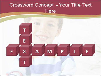 Little boy with a books PowerPoint Templates - Slide 82