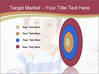 Little boy with a books PowerPoint Templates - Slide 84