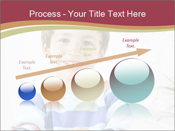 Little boy with a books PowerPoint Templates - Slide 87