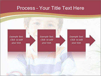 Little boy with a books PowerPoint Templates - Slide 88