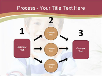Little boy with a books PowerPoint Templates - Slide 92