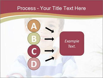 Little boy with a books PowerPoint Templates - Slide 94