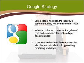 Serious businesswoman PowerPoint Template - Slide 10