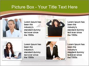 Serious businesswoman PowerPoint Template - Slide 14