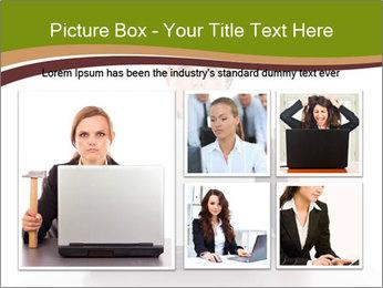 Serious businesswoman PowerPoint Template - Slide 19