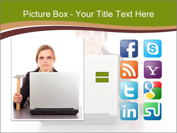 Serious businesswoman PowerPoint Template - Slide 21