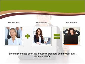 Serious businesswoman PowerPoint Template - Slide 22