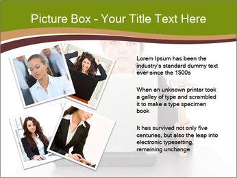 Serious businesswoman PowerPoint Template - Slide 23