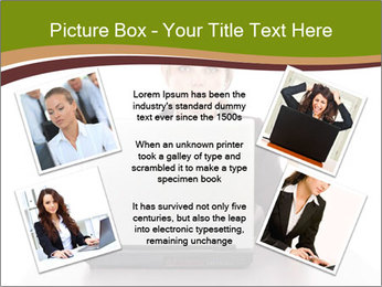 Serious businesswoman PowerPoint Template - Slide 24