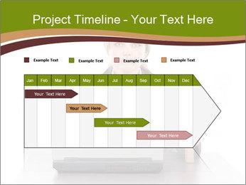 Serious businesswoman PowerPoint Template - Slide 25