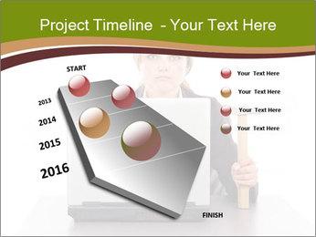 Serious businesswoman PowerPoint Template - Slide 26