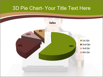 Serious businesswoman PowerPoint Template - Slide 35
