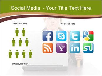 Serious businesswoman PowerPoint Template - Slide 5