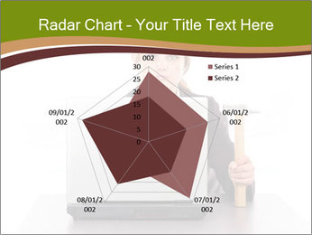Serious businesswoman PowerPoint Template - Slide 51