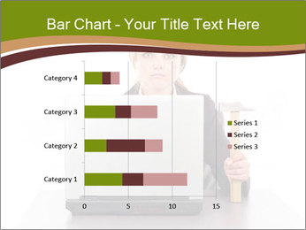Serious businesswoman PowerPoint Template - Slide 52