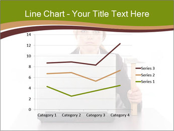 Serious businesswoman PowerPoint Template - Slide 54