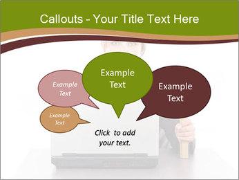 Serious businesswoman PowerPoint Template - Slide 73